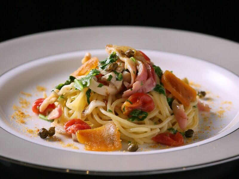 ホッキ貝とカラスミのスパゲッティ